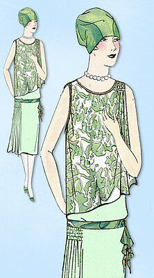 1920s VTG Ladies Home Journal Sewing Pattern 5469 FF Flapper Cocktail Dress 36B