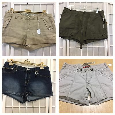 Forever21 ,Baby&phat, JCP, Union bay 4 Woman Shorts Size L $10 Each Lot $40