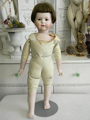 """Collectible Vintage Jutta 25"""" Bisque Jointed Boy Doll~Open Mouth w/teeth"""