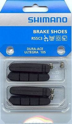 2x Shimano Road Brake Shoes Dura-Ace Ultegra 105 Pads Inserts R55C3 7900 6700