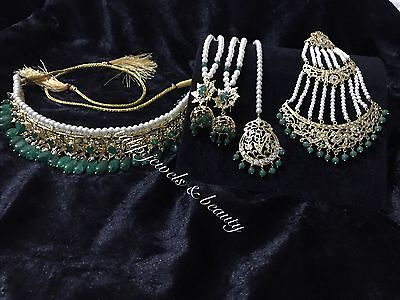 Indian/Pakistani  Hyderabadi Nazam, Mughal Jewellery Choker Bridal Set