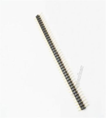 10Pcs 40Pin Pin Header Single Row 2.54MM Round Male Machined Gold Plated Ic N tp