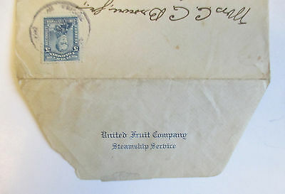 1917 COLOMBIA Envelope COVER / UNITED FRUIT COMPANY STEAMSHIP SERVICE to Philly