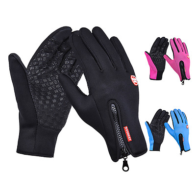 Cycling Touch Screen Gloves Outdoor Jogging Skiing Hiking Running AU Size M-L