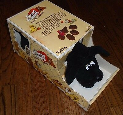 Complete in Box Vintage Tonka 1985 Pound Puppies #7805 black dog with papers