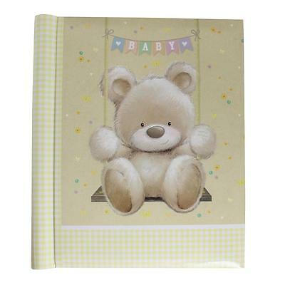 Photo Album - New Baby - Teddy on a Swing Design - A4 Self Adhesive