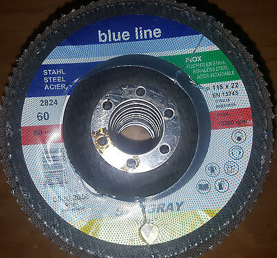 """Box of 5 Medium Surface Conditioning Flap Disc 4-1//2/"""" X 7//8/""""  KEEN Brite 55735"""