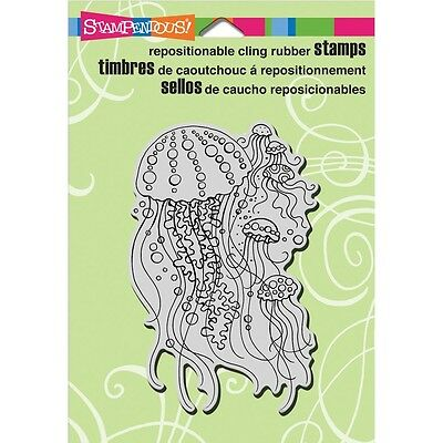 """Stampendous Cling Stamp 6.5""""X4.5""""- Jellyfish"""