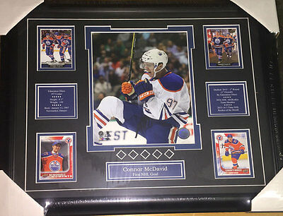 Connor McDavid - custom framed photo with cards and bio