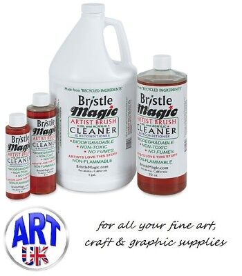 Bristle Magic Artists BRUSH CLEANER oil, acrylic & watercolour paint remover
