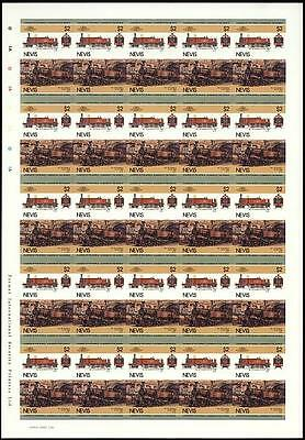 1866 Metropolitan Railway Class A #23 4-4-0 Imperf/Imperforate Train Stamp Sheet