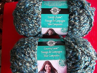 104 yds ea lot of 2 Wizard Loops /& Threads Country Loom boucle yarn