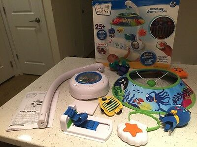 2012 Baby Einstein Sweet Sea Dreams Musical Mobile WITH REMOTE and BOX