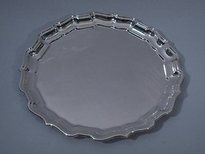 Cartier Chippendale Tray - Piecrust Rim - American Sterling