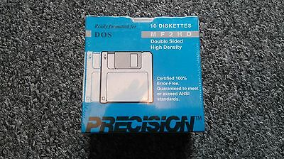 Sealed Box of 10 Precision MF2HD Floppy Discs
