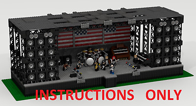Custom Lego: Rock Concert Stage - Bruce Springsteen -Instructions Only.no Parts.