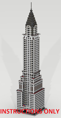 CUSTOM LEGO BUILDING Chrysler Building New York (USA) INSTRUCTIONS ONLY NO PARTS