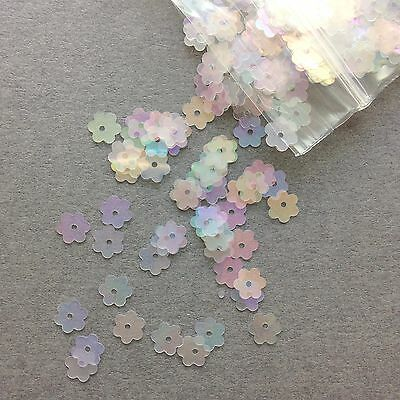 500 x 6mm Tiny Flower/Daisy Sequins 4 colours available.
