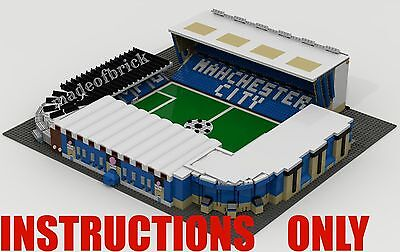 CUSTOM LEGO BUILDING. Maine Road Stadium. Manchester City INSTRUCTIONS ONLY.NO P