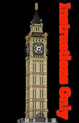CUSTOM LEGO BUILDING Big Ben London. Westminster. Clock tower INSTRUCTIONS ONLY