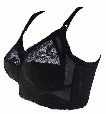 Nursing Breastfeeding full cup Bra Black Nude Lace Cup,32E,34DD-F,36-40E-F