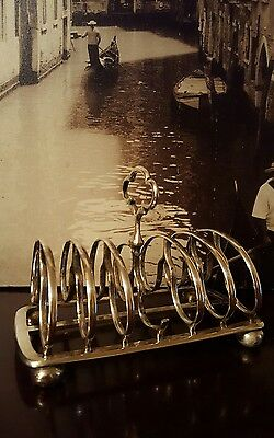 Antique Victorian silver plated 6 slice toast rack