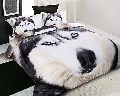 New Husky Wolf Standard Size Pillowcase 48 x 73cm Digitally Printed