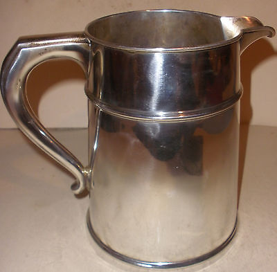 Rare Antique 1927 Art Deco Gorham sterling silver 4.5 pint water pitcher A20006