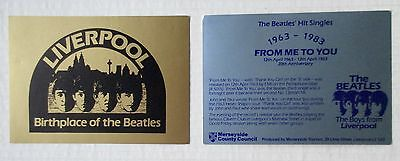 1983 / 2 Postcards, 20th Anniversary & Liverpool Birthplace of the BEATLES; MINT