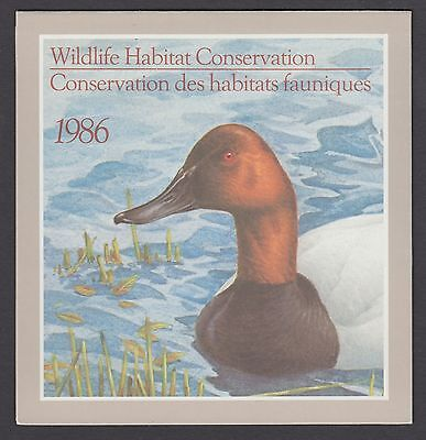 Fwh2 1986 Canvasbacks By J. Lansdowne, Federal Wildlife Conservation & Stamp