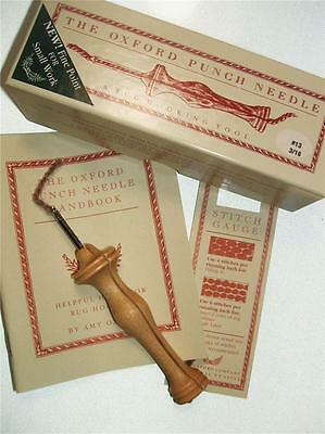 """Oxford Wood Punch Needle Mini with Heels Rug Hooking Tool #13 3/16"""" Fine"""
