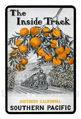 """Southern Pacific """"Inside Track"""" Advertising Poster"""