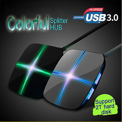 High-speed 7 Port Usb3.0 Multi HUB Splitter Expansion Cable Laptop PC Adapte