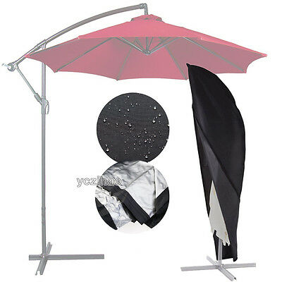 Waterproof Zipped Protective Cover For 3M-5M Banana Cantilever Parasol Umbrellas
