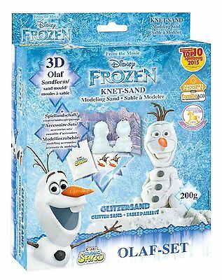 Magic Sand Frozen Olaf-Set. Ca. 200g Sand mit Glitzer