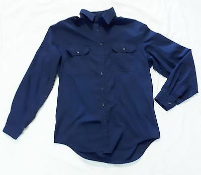"Tilley Endurables ""give 'em Hell"" Long Sleeve Blue Safari Shirt Made In Canada"