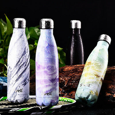 Hot!Stainless Steel Swell Bottle Creative Insulation Cup Gym Sport Travel 500ml
