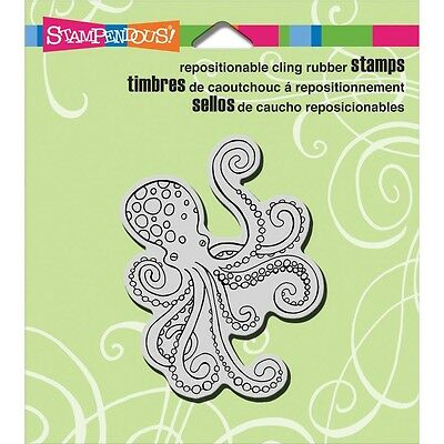 """Stampendous Cling Stamp 4.75""""X4.5""""- Octopus"""