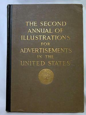 Original Second Annual of Advertising Art in the United States c.1922