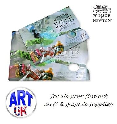 WInsor & Newton Artists TEAR OFF PALETTES for Oil & Acrylic Colour 50 Sheet Pads