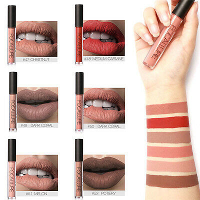 FOCALLURE Makeup Waterproof Long Lasting Matte Velvet Liquid Lipstick Lip Gloss