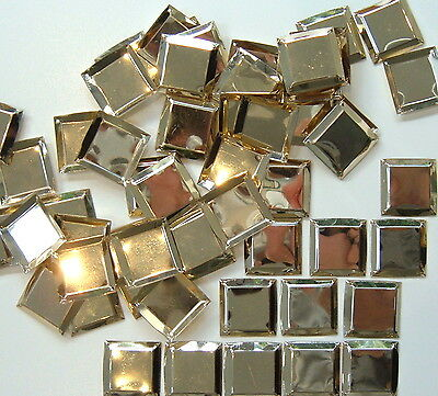 50 x 22 mm Vintage Square Sequins - Gold.