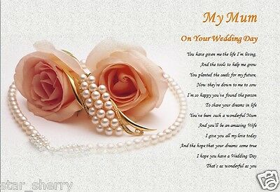 MUM -  ON YOUR WEDDING DAY - personalised gift