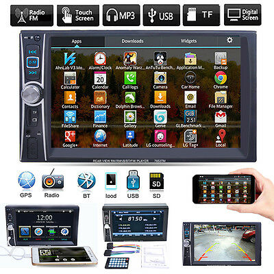 "6.6"" Double 2 DIN Bluetooth Car Radio Stereo MP5 MP3 Player FM/USB/TF/AUX/iPod"