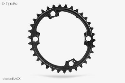 AbsoluteBlack Oval Chainring for Shimano 9000, 6800, 5800 | 34T | Black