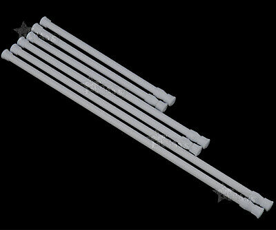 2X Spring Loaded Extendable Telescopic Voile Tension Curtain Rail Pole Rod ABS