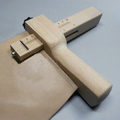 Practical Wood Adjustable Strip and Strap Cutter Craft Tool Leather Cutting WE