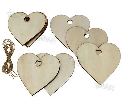 10 pcs Wooden Christmas Xmas Tree Hanging  Decorations  Gift Heart