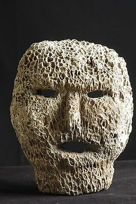 Old mask made of fossilised coral -  West Timor - Tribal artifact