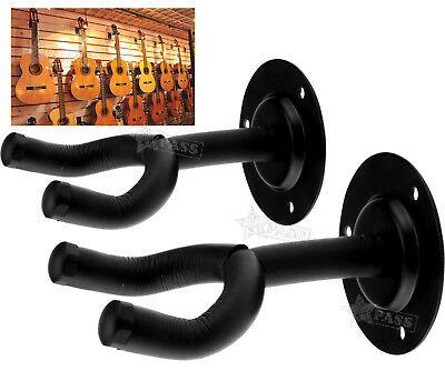 2 PCS Guitar Wall Hangers Lifetime Warranty Mount Holder Brackets Acoustic/Bass